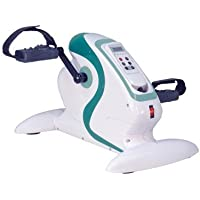 Carefit Mini Motorized Exercise Bike Hands & Foot Workout at home Paralysis Cycle Pedal Exerciser (White)