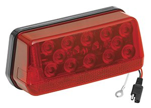 Wesbar 8-Function LED Waterproof Taillight (Left/Roadside, LED Wrap-Around)