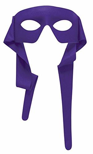 Tasseled Mardi Gras Mask - Forum Novelties Mens Purple Masked Man