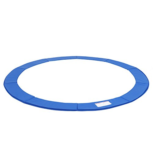 (SONGMICS 12FT Replacement Trampoline Safety Pad, Waterproof Surround Spring Cover, Round Foam Pad Blue USTP12FT)