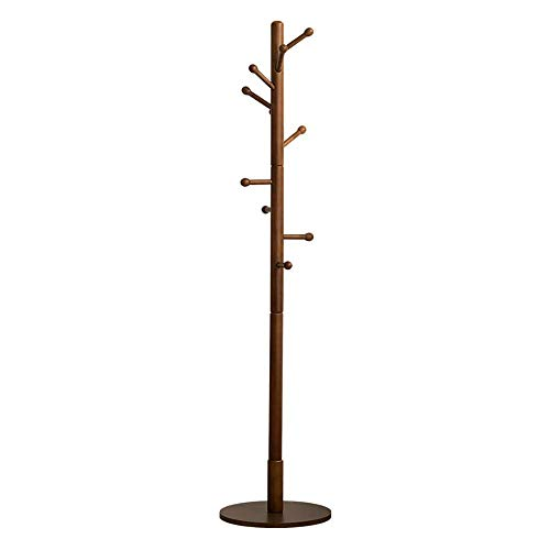 - GTT-coat racks Coat Rack , Multi-Function Floor Single-Pole Door Rack Living Room Bedroom Hanger ,40X40X180CM (Color : Brown)