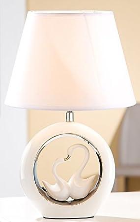 De Décoration Chevetde Table Gilde Blancargent 43 Cm Cygne 5 Lampe PkiOZTuX