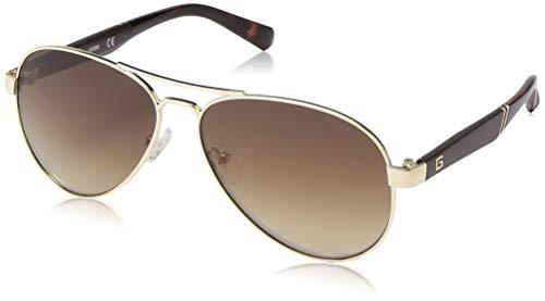 Sunglasses Guess Gold - GUESS Men's Gu6930 Aviator Sunglasses, gold & brown mirror, 60 mm