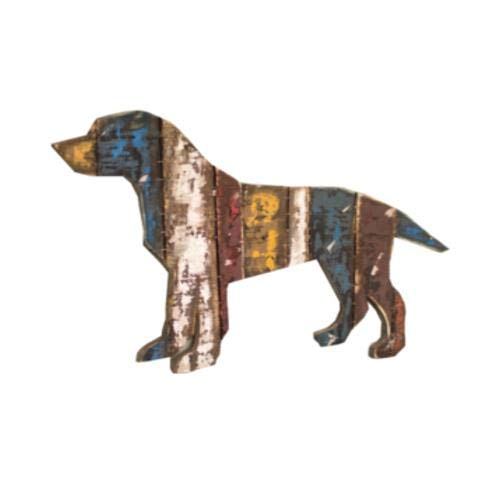 - Kalalou Reclaimed Wood Dog Wall Hanging, One Size, Multicolored
