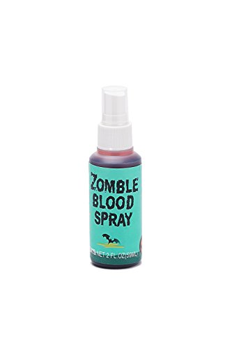 Zombie Blood Spray Fake Blood Splatter 2 fl oz Water Washable Halloween Makeup -