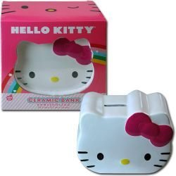 Hello Kitty Face Ceramic Coin Bank - 6
