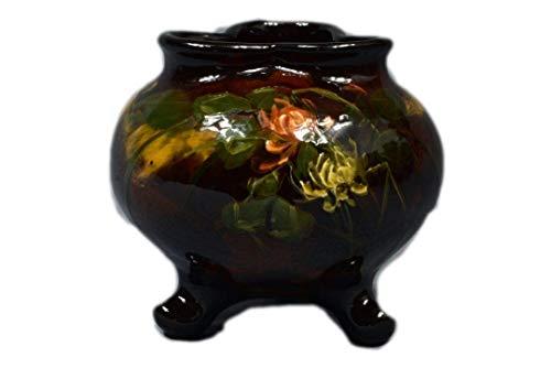 (Weller Pottery 1898-1910 Aurelian 3 Footed Clover Flowers Vase #589 6 L Knaus)