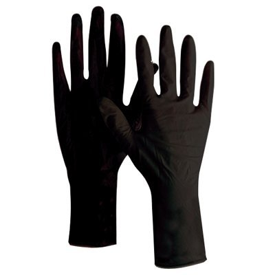 Product Club Bvgpf-2r Jet Black Vinyl Disposable Gloves Ext Cuff