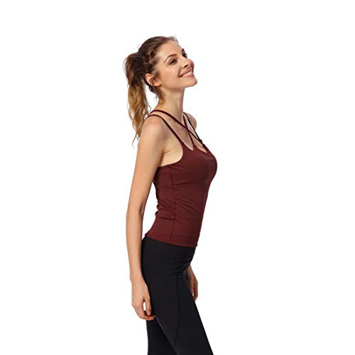Vtements Dark Color Red Vtements Yoga Workouts Red Sport Tops de MARFELICIA Femmes Dark wqOXUOH