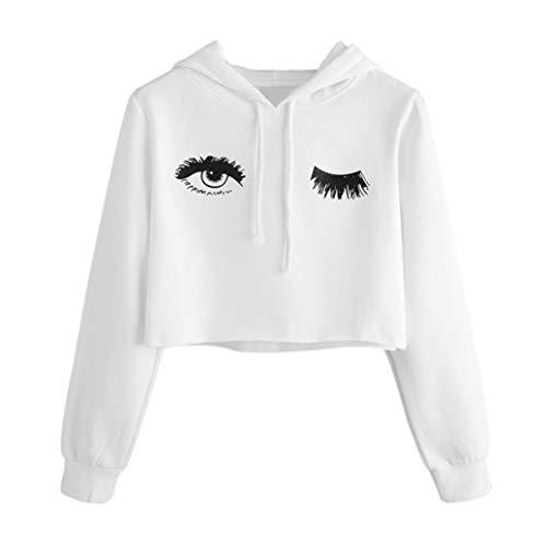 New! Baigoods Teens Womens Hoodie Eye Printed Sweatshirt Long Sleeve Pullover Tops Blouse