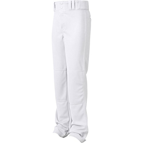 Champro Youth MVP Open Bottom Relaxed Fit Baseball Pant, White, Medium - Relaxed Fit Medium Weight