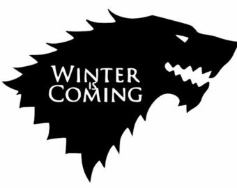 Game of Thrones Winter is Coming Stark Vinyl Decal Sticker|Cars Trucks Vans Walls Laptops Cups|Black|5.5 In|KCD786 (Game Of Thrones Subtitles compare prices)