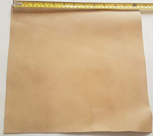 Natural Vegetable Tanned Leather Hide 1.5mm/3-4Oz Various Sizes (12x12