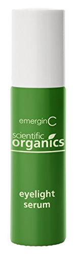 emerginC Scientific Organics – Eyelight Serum, Roll On Eye Serum with Plant Stem Cells Hyaluronic Acid to Combat the Appearance of Dark Circles Puffiness 10ml 0.3.4oz