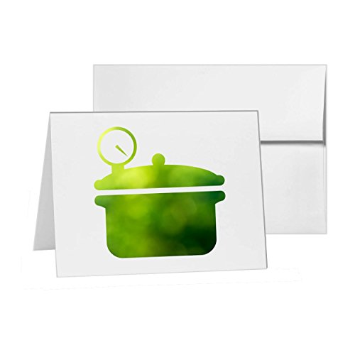 Price comparison product image Pressure Cooker Cooking Food Kitchen, Blank Card Invitation Pack, 15 cards at 4x6, Blank with White Envelopes Style 16835