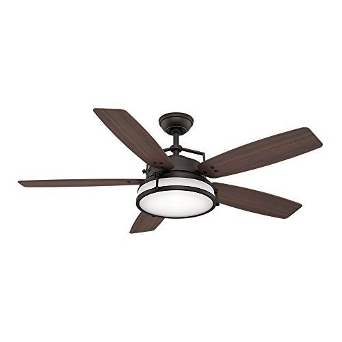 Casablanca 59114 Caneel Bay 56'' Outdoor Ceiling Fan with Light & Wall Control, Maiden Bronze by Casablanca