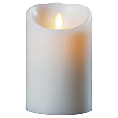 Luminara Wax Candle 3.5x7 Ivory