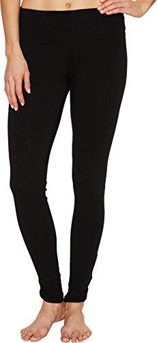 Hard Tail Women's Contour Rolldown Fleur-De-Lis Ankle Leggings Black Pants