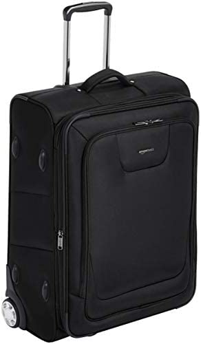 Amazon Basics Expandable Softside Rolling Luggage Suitcase With TSA Lock And Wheels - 28 Inch, Black