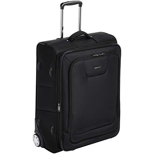 AmazonBasics Expandable Softside Rolling Luggage Suitcase With TSA Lock And Wheels - 26 Inch, Black