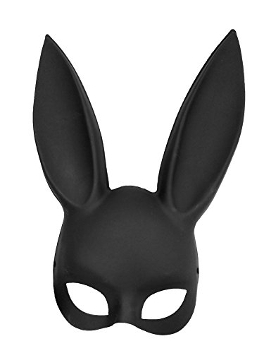 Novelty Giant Adult Deluxe Sexy Bunny Half Mask Black -