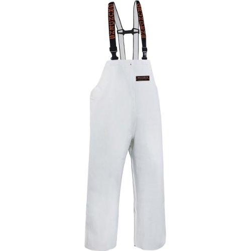 (Grundéns Men's Herkules 16 Fishing Bib Pant, White - Large)