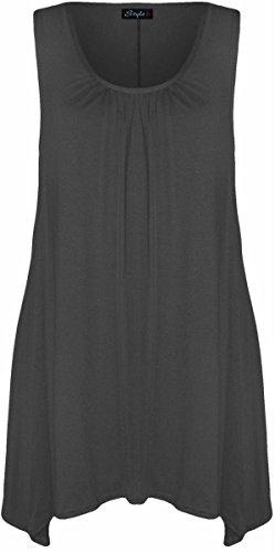 New Womens Plus Size Hanky Hem Long Tunic Dress (Hanky Hem Top)