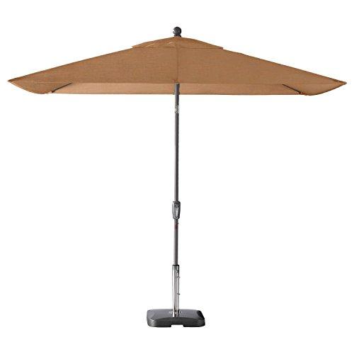 Secret Garden Home Goods Pismo Dawn 9 x 7 Rectangular Premium Push Tilt Market Umbrella Starring Grey, Olefin- Wheat