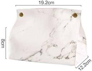 Chic caja de pañuelos caja contenedor PU cuero mármol patrón casa ...