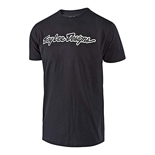 Troy Lee Designs Men's Signature T-Shirt (Large, Black) (Best Class T Shirt Design)