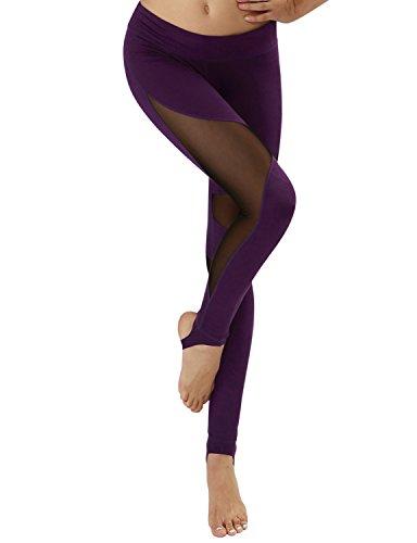 d33bd864c95fd7 Yoga Reflex Women's Unqie Design Stirrup Yoga Running Pants Leggings  (XS-2XL) , DeepPurple , X-Large - Buy Online in Oman. | Apparel Products in  Oman - See ...