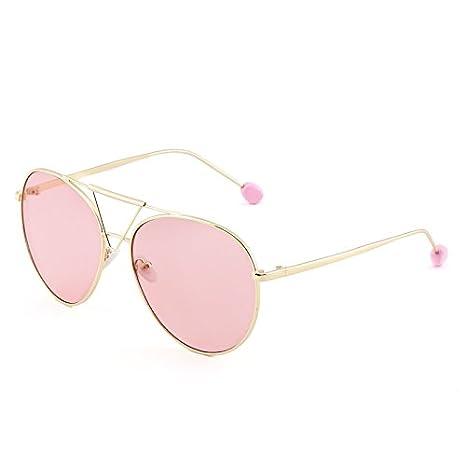VVIIYJ Occhiali da sole da donna Grandi occhiali da sole faccia tonda Trasparente Occhiale da vista Maschio ,Cornice oro Penetrator
