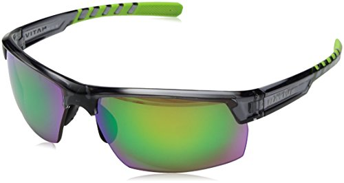 Native Eyewear Catamount Sunglass, Dark Crystal Gray, Green Reflex -