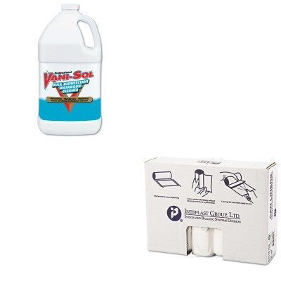KITIBSS334016NRAC00294 - Value Kit - Professional VANI-SOL Bulk Disinfectant Bathroom Cleaner (RAC00294) and IBS S334016N High Density Interleaved Commercial Coreless Roll Can Liners, Natural (IBSS334016N)