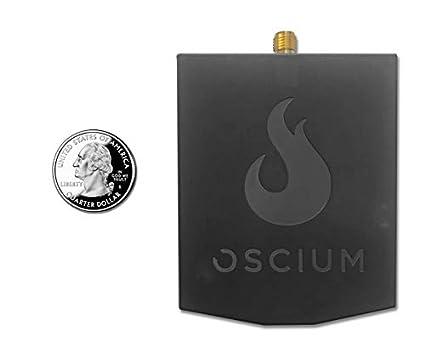 Black Negro Organizador para maletas Oscium Oscium WiPry 2500x Wi-Fi Spectrum Analyzer iOS, Android, PC, Mac 8 cm