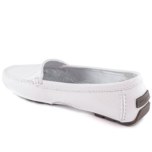 Women's Genuine Patent Leather Made in Brazil Manhasset Driver Marc Joseph NY Fashion Shoes White Patent from china sale online cheap looking for best sale online Sw6TVI