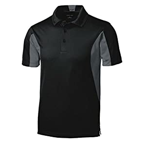 Men's Moisture Wicking Side Blocked Micropique Polo Cleaning Shirt