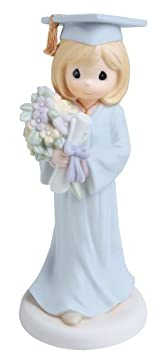 Precious Moments, I Know Who Holds The Future, Bisque Porcelain Figurine, 740011