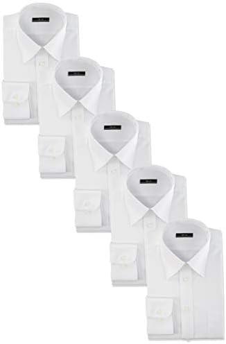 白ワイシャツ ワイシャツ 白 5枚セット イージーケア 形態安定 メンズ ホワイト 長袖Yシャツ