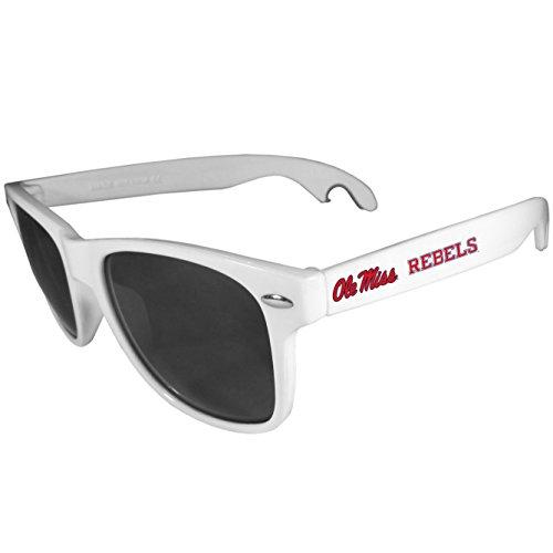 Siskiyou NCAA Mississippi Ole' Miss Rebels Beachfarer Bottle Opener Sunglasses, White