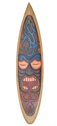 Decoración Tabla de Surf en el Tiki Tribal Diseño para Colgar Letrero de Madera 100cm