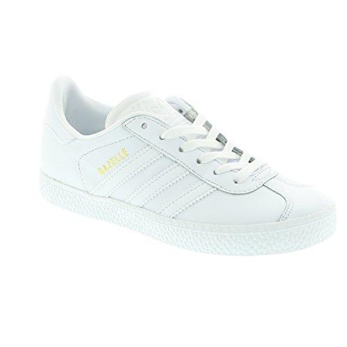 adidas Kinder Gazelle C Fitnessschuhe Weiß (Ftwbla/Ftwbla/Ftwbla)