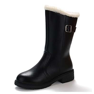 Amazon.com   Women's Warm Ankle Boots Fashion Metal