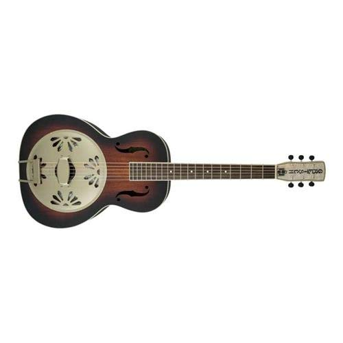 Biscuit Cone Resonator Guitar - Gretsch Guitars G9241 Alligator Biscuit Round Neck Acoustic-Electric Resonator Guitar 2-Color Sunburst