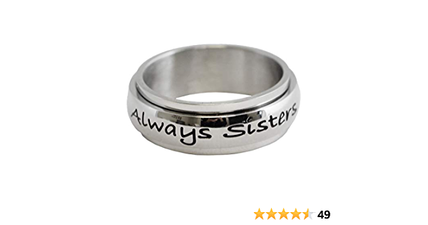Always Sisters Forever Friends Stainless Steel Ring \u2022 Sister Ring \u2022 Stainless steel engraved ring for women \u2022 Friend Ring Gift for Sisters