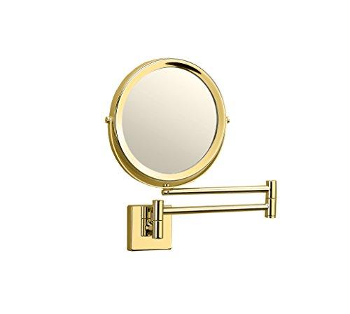 Dwba Wall Mounted 5x Cosmetic Makeup Magnifying 2 Arms