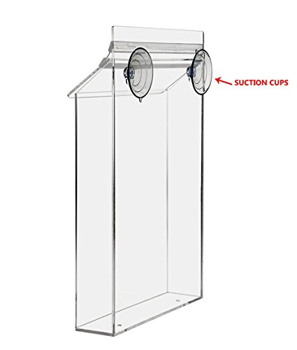 Marketing Holders Acrylic Outdoor Holder for Flyers and Papers with Suction Cups (Pack of 1) (Literature Holder Suction Cups)