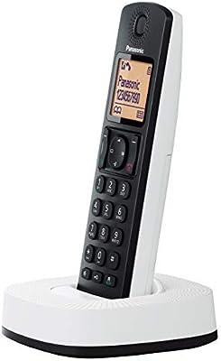 Panasonic KX-TGC310 - Teléfono Fijo Inalámbrico (LCD, Identificador De Llamadas, 16H Uso Continuo, Localizador, Agenda De 50 números, Bloqueo Llamada, Modo ECO, Reducción Ruido)- Color Negro y Blanco: Amazon.es: Electrónica
