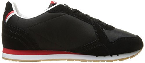 Umbro Mens Washington Fashion Sneaker Noir / Rouge