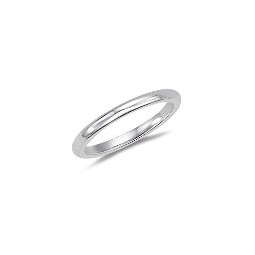 1.5-2.0 mm Classic Wedding Band in Platinum-5.0